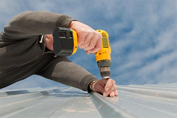 Screw Down Metal Roofing installation by Precision Roofing, LLC - Springvale, ME